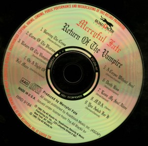 Mercyful Fate Return Of The Vampire 2 ifpi numbers RR9184 disc