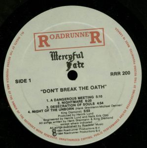 Mercyful Fate Don't Break the Oath Attic Canada a side