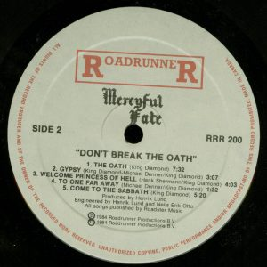 Mercyful Fate Don't Break the Oath Attic Canada b side