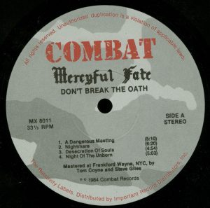 Mercyful Fate Don't Break the Oath Combat Camo label a side