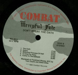 Mercyful Fate Don't Break the Oath Combat Camo label b side