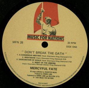 Mercyful Fate Don't Break the Oath MFN France a side