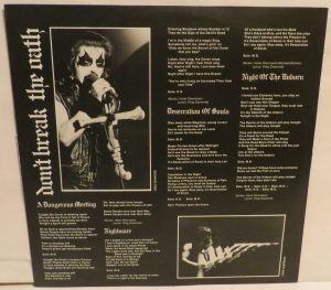 Mercyful Fate Don't Break the Oath MFN France insert