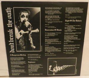 Mercyful Fate Don't Break the Oath MFN France insert