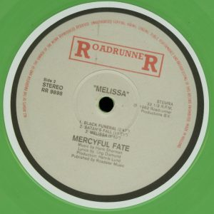 Mercyful Fate Melissa Green vinyl b side