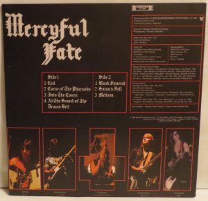 Mercyful Fate Melissa Green vinyl back