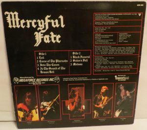 Mercyful Fate Melissa Megaforce Black Label back