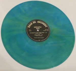 Mercyful Fate Mini LP 2001 Bootleg Light Blue + Green Marbled Copy 2 side a