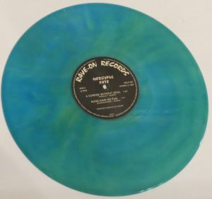 Mercyful Fate Mini LP 2001 Bootleg Light Blue + Green Marbled Copy 2 side b