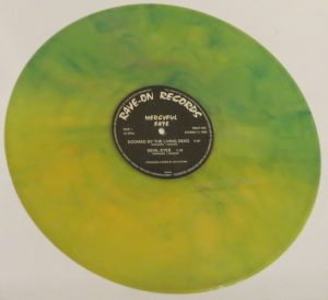 Mercyful Fate Mini LP 2001 Green and Yellow side a
