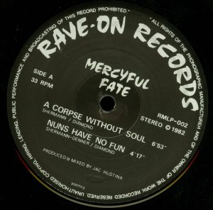 Mercyful Fate Mini LP 2002 press white border a side