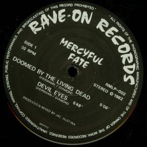Mercyful Fate Mini LP 2002 press white border b side