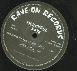 Mercyful Fate Mini LP 2011 Bootleg Black Vinyl a side