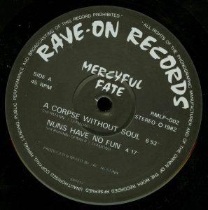 Mercyful Fate Mini LP 2011 Bootleg Black Vinyl b side