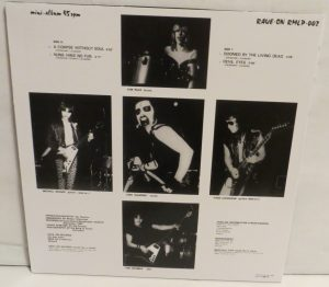 Mercyful Fate Mini LP 2011 Bootleg Black Vinyl back