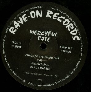 Mercyful Fate Mini LP 2014 press bonus tracks black b side