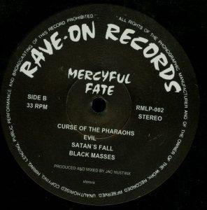Mercyful Fate Mini LP 2014 press bonus tracks black b side