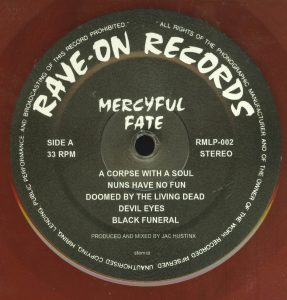 Mercyful Fate Mini LP 2014 press bonus tracks red a side