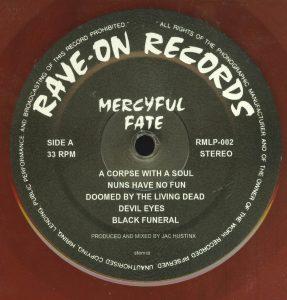 Mercyful Fate Mini LP 2014 press bonus tracks red a side