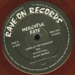 Mercyful Fate Mini LP 2014 press bonus tracks red b side