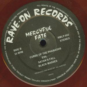 Mercyful Fate Mini LP 2014 press bonus tracks red b side