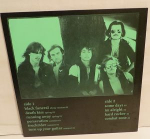 Mercyful Fate Nuns For Slaughter Test Pressing Back