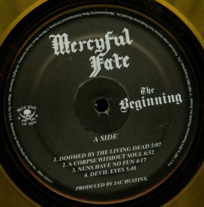 Mercyful Fate The Beginning 2015 press Orange Vinyl a side