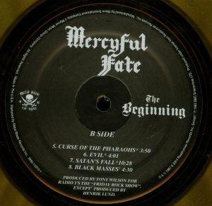 Mercyful Fate The Beginning 2015 press Orange Vinyl b side