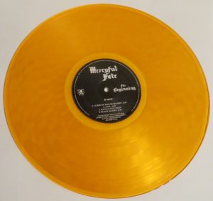 Mercyful Fate The Beginning 2015 press Orange Vinyl side b