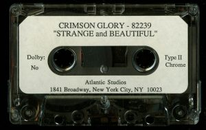 Crimson Glory Strange and Beautiful Test Pressing cass tape