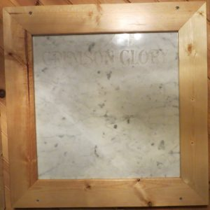 Crimson Glory White Marble